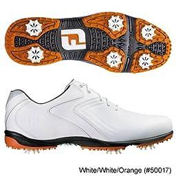 FootJoy Closeout HydroLite Z-Saddle Golf Shoes - White/Grey 9 D(M) US