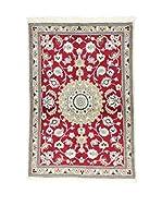 L'EDEN DEL TAPPETO Alfombra Kashmar Rojo/Gris 89 x 130 cm