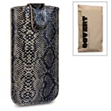 """IPHONE 5/5S """"COVERT"""" BRANDED PU LEATHER POCKET CASE (snakeskin)von """"COVERT"""""""
