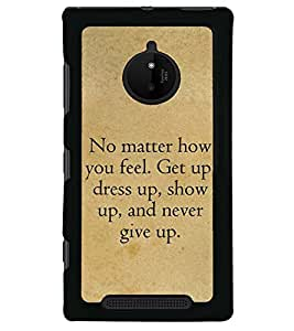 Fuson Premium Show Up Metal Printed with Hard Plastic Back Case Cover for Nokia Lumia 830