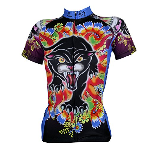 qinying-womens-cartoon-printing-floral-short-sleeve-bicycle-cycling-jersey-xs