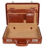 #6: Leather World Tan High Quality PU Leather 17 inch Expandable Briefcase cum Office Bag