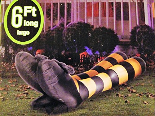 [HALLOWEEN INFLATABLE 6' WITCH LEGS AIRBLOWN DECORATION BY GEMMY] (Halloween Outdoor Inflatables)
