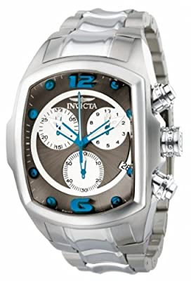 Invicta Men's 1688 Lupah Chronograph Grey Dial Stainless Steel Watch