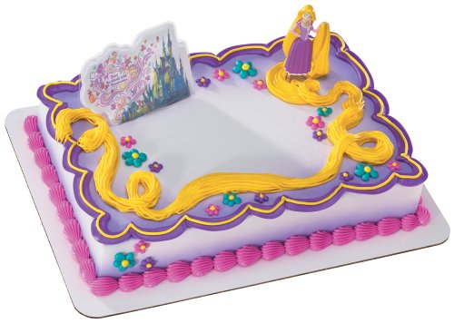 Rapunzel Cake Decorating Kit : Disney Tangled Birthday Cake Topper Decorations - We Buy ...