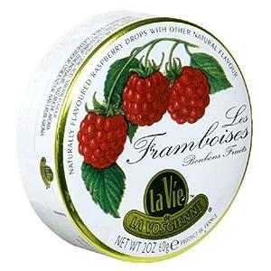 Amazon.com : La Vie Les Framboises Raspberry Hard Candy, Bonbon Fruits, 2-Ounce Tins (Pack of 5