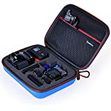 "Smatree® SmaCase G160 - Medium Case for Gopro Hero 4, 3+, 3, 2, 1 and Accessories (8.6"" x6.7"" x2.7"") - Travel & Household Case with Excellent Cut EVA Foam Interior - Perfect Protection for Gopro Camera - Blue"