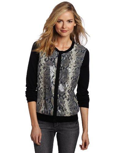 Jones New York Women's Cardigan Sweater, Black Multi, Medium