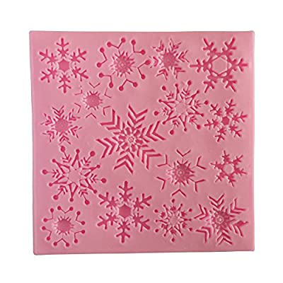 Wocuz W0714 Silicone Snowflake Shapes Fondant Mold Candy Making Mould for Cake Embossing Decoration