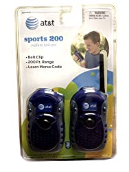 AT&T Sports 200 Walkie Talkies (Colors May Vary)