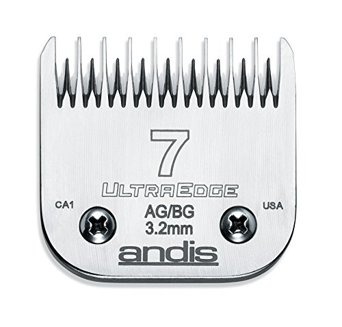 andis-carbon-infused-steel-ultraedge-dog-clipper-blade-size-7-skip-tooth-1-8-inch-cut-length