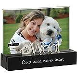 Malden Black Wood Desktop Expression Picture Frame, Woof, 4 by 6-Inch