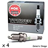 4x Honda HR-V GH 1.6 16V 105BHP (Years: 99-06) NGK V Power Spark Plugs Kit Genuine Service Part 'Trade' Price' New UK - Part Number 5584