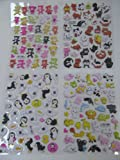 5x different randomly selected sheets of pandas, cats, birds, animals puffy 3D style stickers for Craft Kids Scrap Books - By Fat-Catz