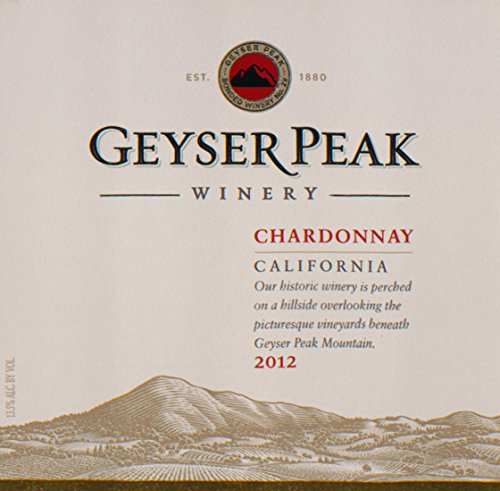2012 Geyser Peak Chardonnay, California 750 Ml