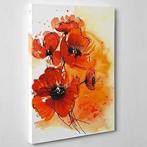 Condividi facebook twitter pinterest eur 24 90 eur 8 00 for Quadri fiori stilizzati