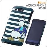 レイ・アウト au by KDDI AQUOS PHONE IS13SH用ディズニーキャラクターシェルジャケット/ドナルド  RT-DIS13SHA/DD