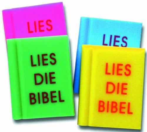"""°°2052 Radiergummi GRÜN """"Bibel"""" in Buchform, 3 x 4 cm,"""