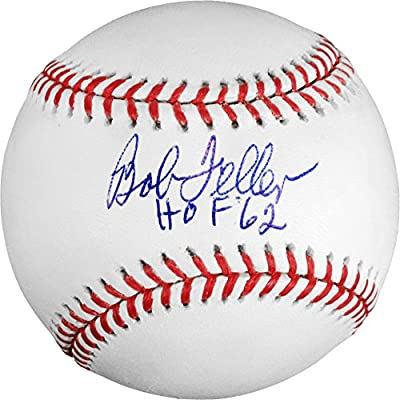 "Bob Feller Cleveland Indians Autographed Baseball with ""HOF 62"" Inscription - Fanatics Authentic Certified"