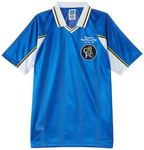 Chelsea - Maglietta a maniche corte, edizione: campioni europei 1998, Blu (blu), L