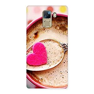 Special Pink Love Coffee Multicolor Back Case Cover for Huawei Honor 7