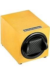 Steinhausen TM1031MYL Backstein 12-Mode Single Yellow Wood Grain Watch Winder