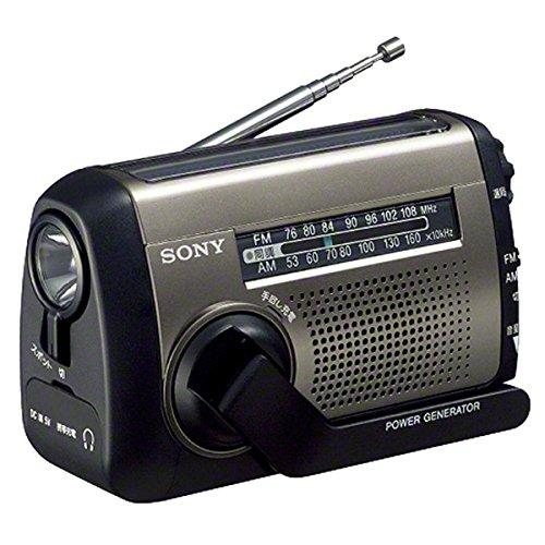 SONY FM/AMポータブルラジオ シルバー 手回し充電対応 太陽光充電対応 LEDライト内蔵 スマホ充電可能 ICF-B99/S