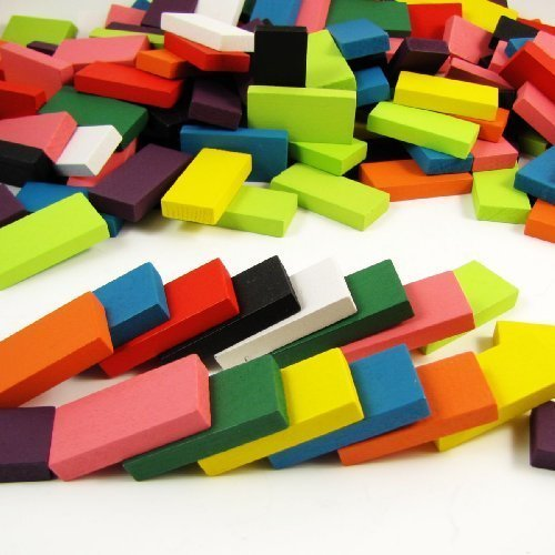 240pcs Authentic Basswood Standard Wooden Kids Domino Racing Toy Game - 1