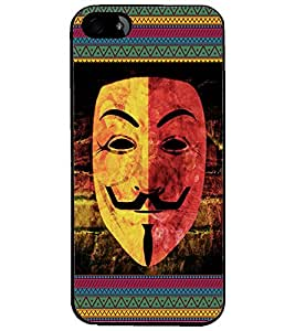PrintDhaba Mask D-3064 Back Case Cover for APPLE IPHONE 5S (Multi-Coloured)