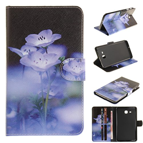 Romtronic Fashionable Design Flip Case PU Leather Cover Stand Case for Samsung Galaxy Tab A 7.0-inch SM-T280 / SM-T285, free Touch pen included (Design 02)