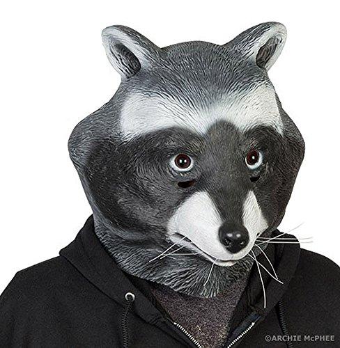 Adult Latex Raccoon Animal Mask Costume Accessory