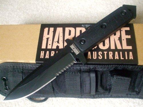 Hardcore Hardware Australia Mfk04-G Tactical Fighting Survival Knife Black G-10