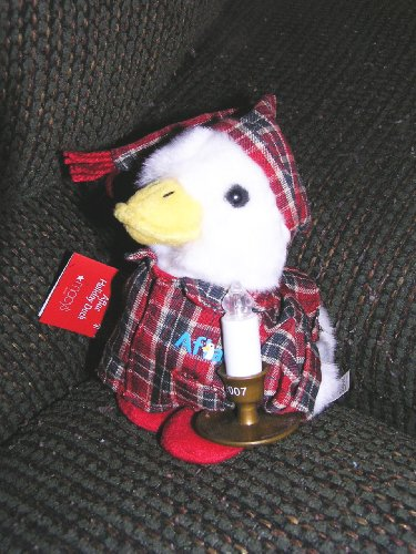 macys-2007-6-plush-aflac-holiday-duck-with-candle-that-lights-up
