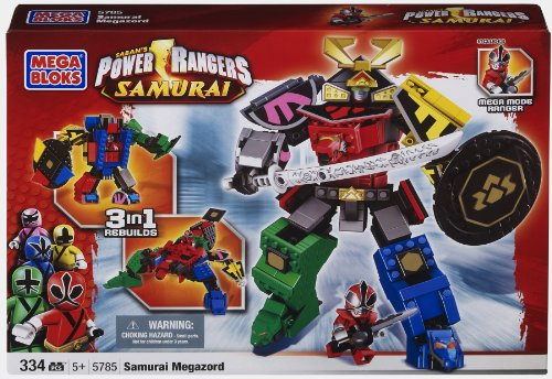Mega Bloks Power Ranger Samurai MegaZord (Pink Power Ranger Helmet compare prices)