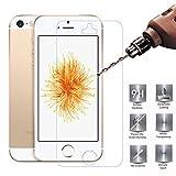 iPhone se/iphone 5s/iphone 5ガラスフィルム,iPhone se 強化ガラス,【ELTD】iPhone se 液晶保護フィルム (0.3mm,硬度9H ) 3D Touch対応 2.5D ラウンドエッジ加工 気泡ゼロ...