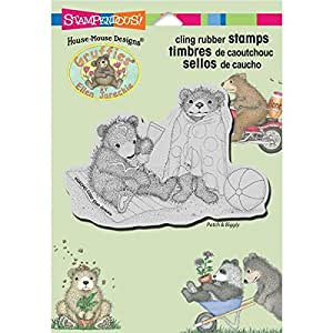 Stampendous cling rubber stamp beachy bears for Rubber stamps arts and crafts
