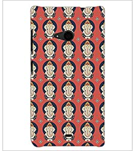PrintDhaba Lord Ganesha D-5386 Back Case Cover for MICROSOFT LUMIA 535 (Multi-Coloured)