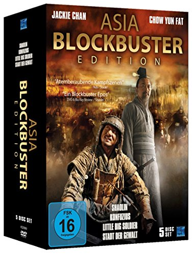 Asia Blockbuster Edition (Shaolin, Konfuzius / Little Big Soldier / Stadt der Gewalt) [5 DVDs] [Collector's Edition]