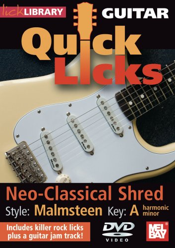 Lick Library: Quick Licks For Guitar - Malmsteen Neo-Classical Shred [DVD] [2008]