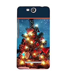 printtech Christmas Tree Hearts Back Case Cover for Micromax Canvas Juice 3 Q392