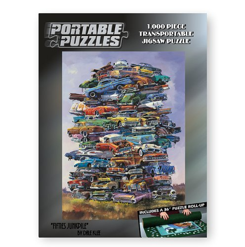 Cheap TDC Games Fifties Junkpile 1,000 Piece Car Portable Puzzle with Mat (B000E3U22O)