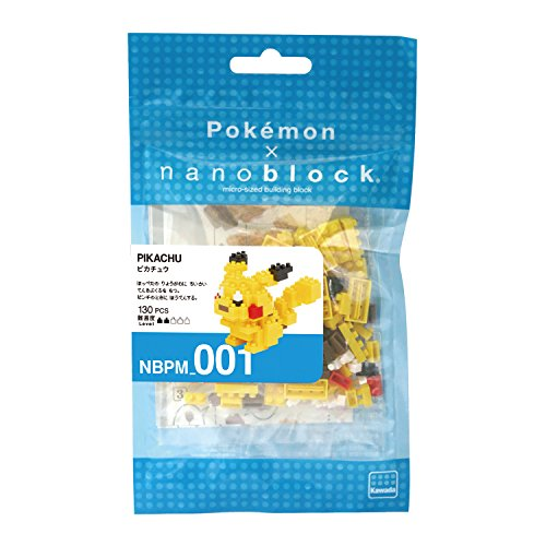 nanoblocks Nbpm001 Nb - Pikachu - Pokemon Building Kit