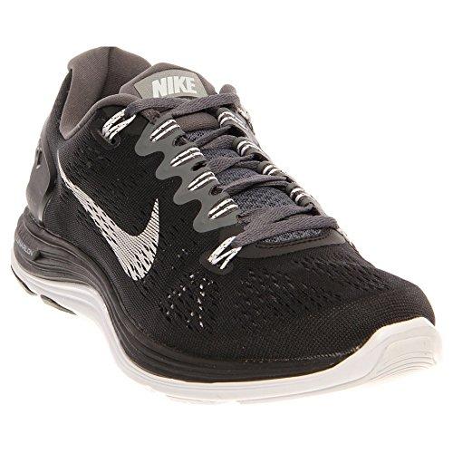 75d7a41686ec Nike Women s Lunarglide+ 5 BlackWhiteDark Grey Running Shoes 7 Women ...