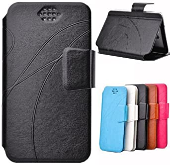 Semoss - PU Flip Leather With Stand Function/Credit Card Slot For Samsung Galaxy S3 Mini i8190 (With Black Pattern)