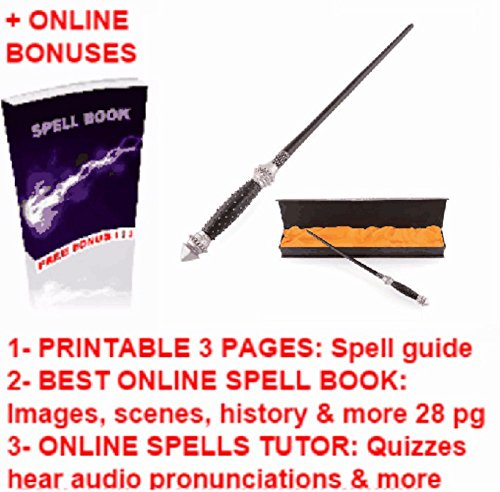 Horace Slughorn's Wands Replica + Harry Potter Magic Printable Spell Book Cheap