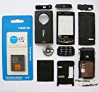Full Black Housing Cover Case for Nokia N95 8gb + Battery Bl-6f Faceplate Replacement for Mobile Phone