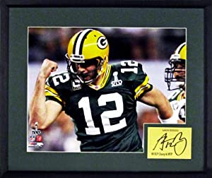 Green Bay Packers Aaron Rodgers SB XLV Champ & MVP 11x14 Photograph (SGA... by Sports Gallery Authenticated