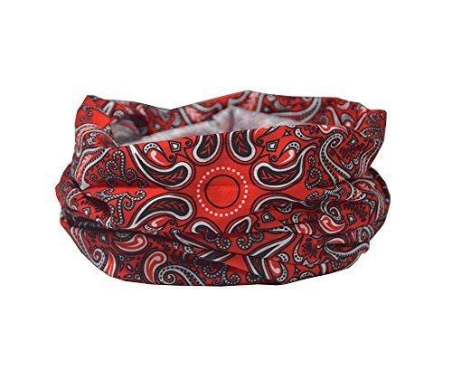 LIMITED EDITION RETRO CIRCLE DESIGN sciarpa- RUFFNEK Multifunzionale Scaldacollo Maschera da sci - Donna & bambini