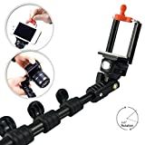 First2savvv ZP-808A01 light version self-portrait extendable telescopic handheld Pole Arm monopod Camcorder/Camera/mobile phone tripod mount adapter bundle for HTC One V Desire C Desire X Windows Phone 8X Windows Phone 8S One XL Desire X One X+ ONE SV One with LENS Cleaning Cloth
