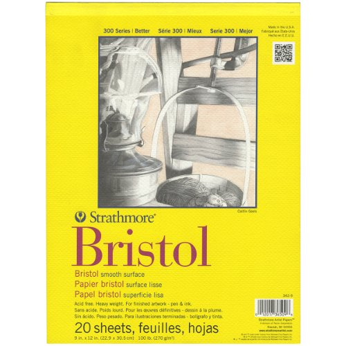 strathmore-bristol-smooth-paper-pad-9-by-12-inch-20-sheets